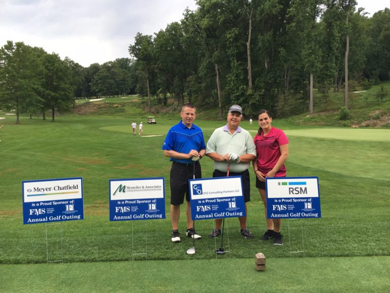 Pat Mulloy from RSM, Larry Davis from CFO Consulting Partners, and Jamie Fisher from Axalta Coating Systems participated in the 2016 golf outing of Financial Management Society of Philadelphia Chapter.