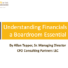 Listen to Allan Tepper's webinar on Understanding Financials is a Boardroom Essential