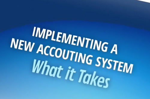 Implementing a New Accounting Sysstem